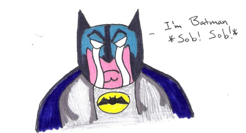 Batman cries