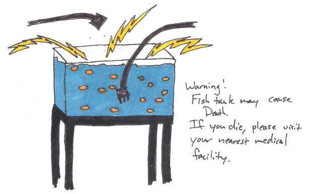 evil fish tank