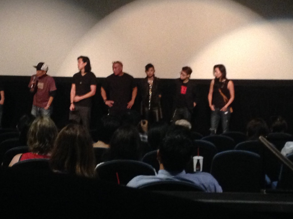 Carl does Q&A for the LA premiere.