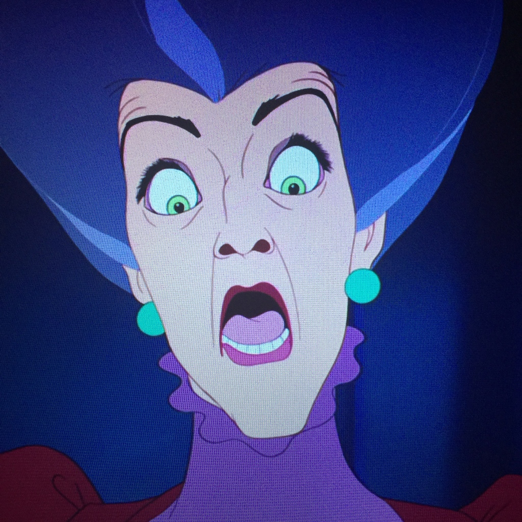 Easily my favorite shot of the film. Lady Tremaine is bested at last.