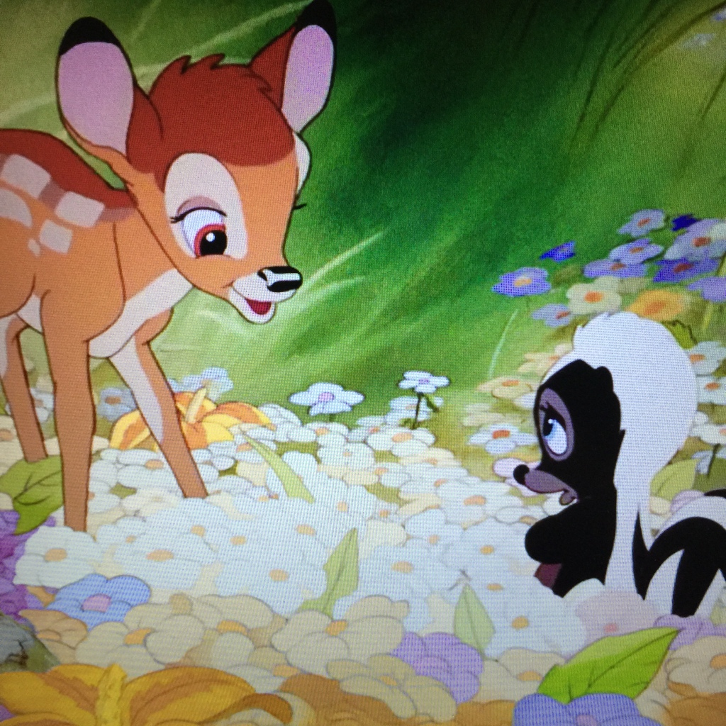 Flower is never actually referred to as a skunk and later in the film he even refers to other skunks as
