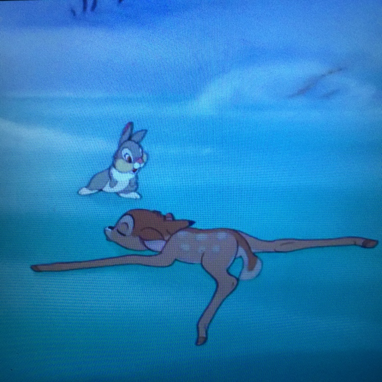 I don't think Bambi is taking this lesson well.