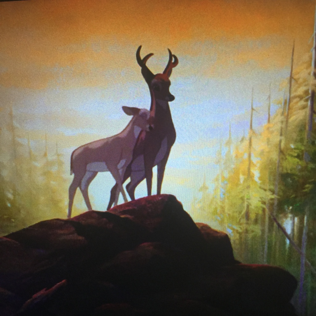 Bambi rejoices being the man of the forest.