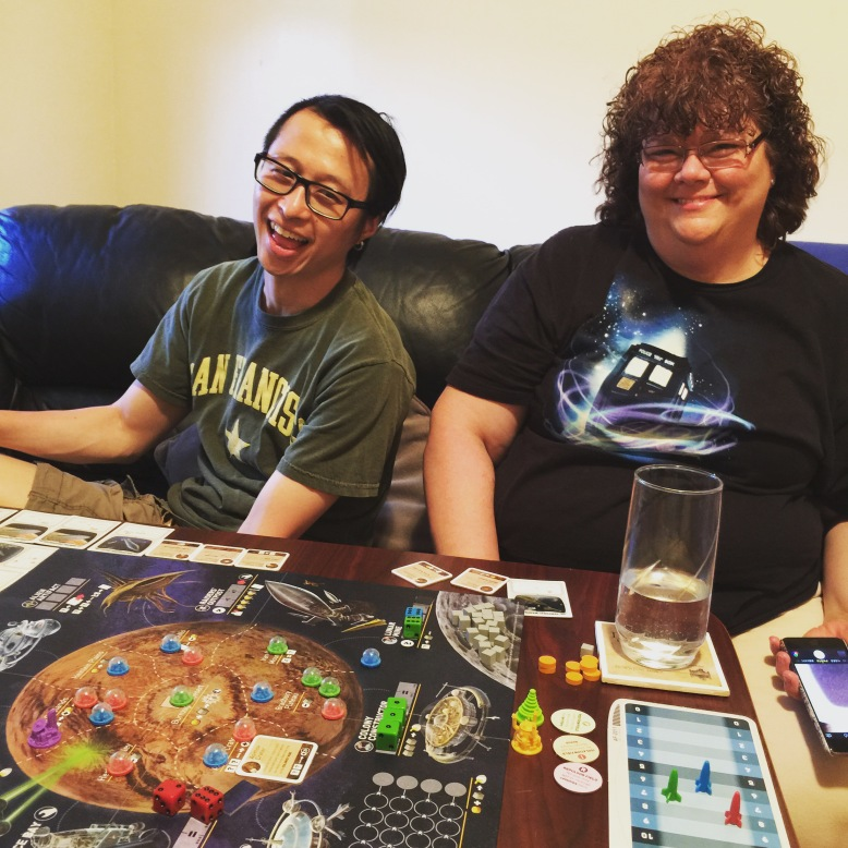 More bonding, this time over board games.