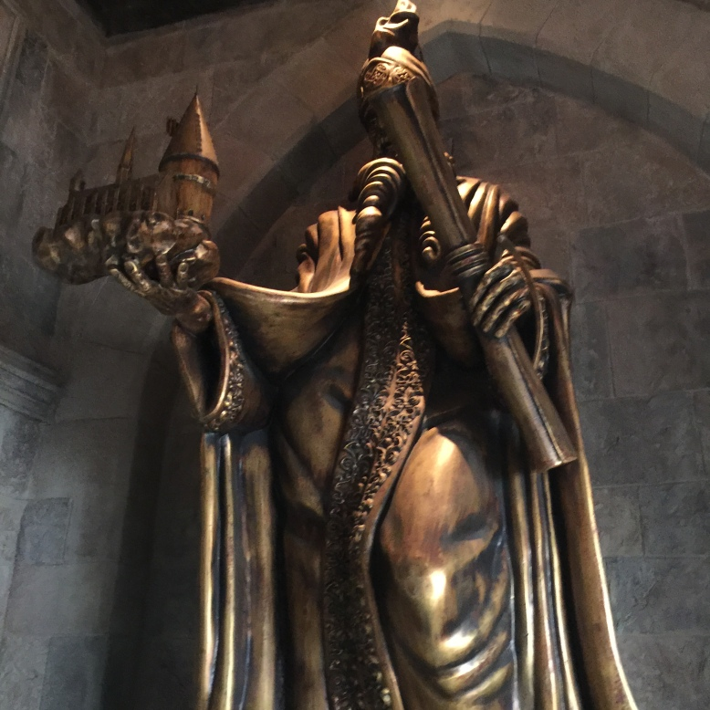 Cool statues greet you as you enter.