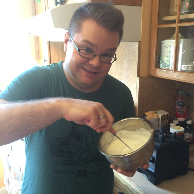 At first, making whip cream sounds fun!