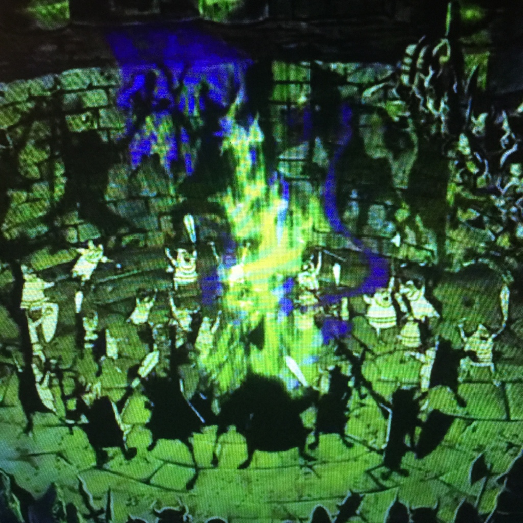 This is an ancient pagan ritual to summon some sense into the plot.  Too little too late demon friends.