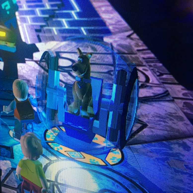 Scooby inside a gyro-ball.