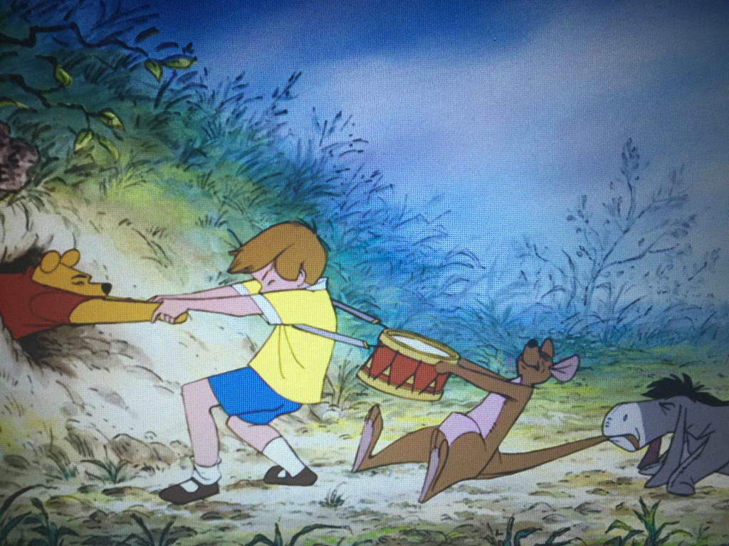 Winnie the Pooh is all about helping friends out of tight spots.
