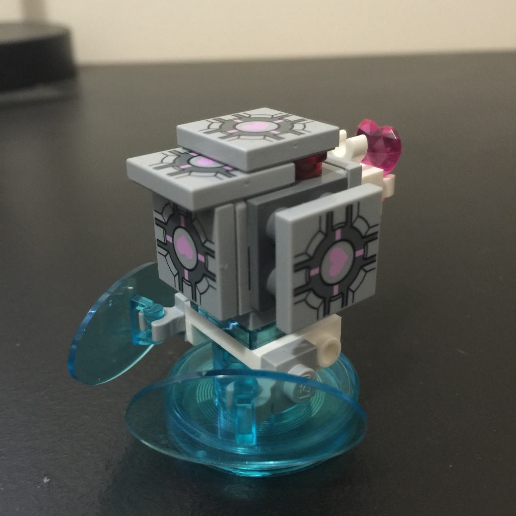 I forgot how to companion cube properly.