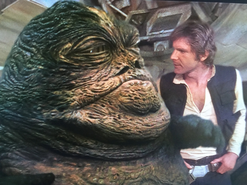 Jabba is not pleased with films which go over budget.