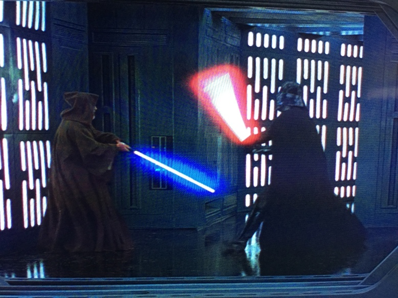 Alright everyone, here's your chance, make your best lightsaber noise.  Go on, let it out.  It's okay.