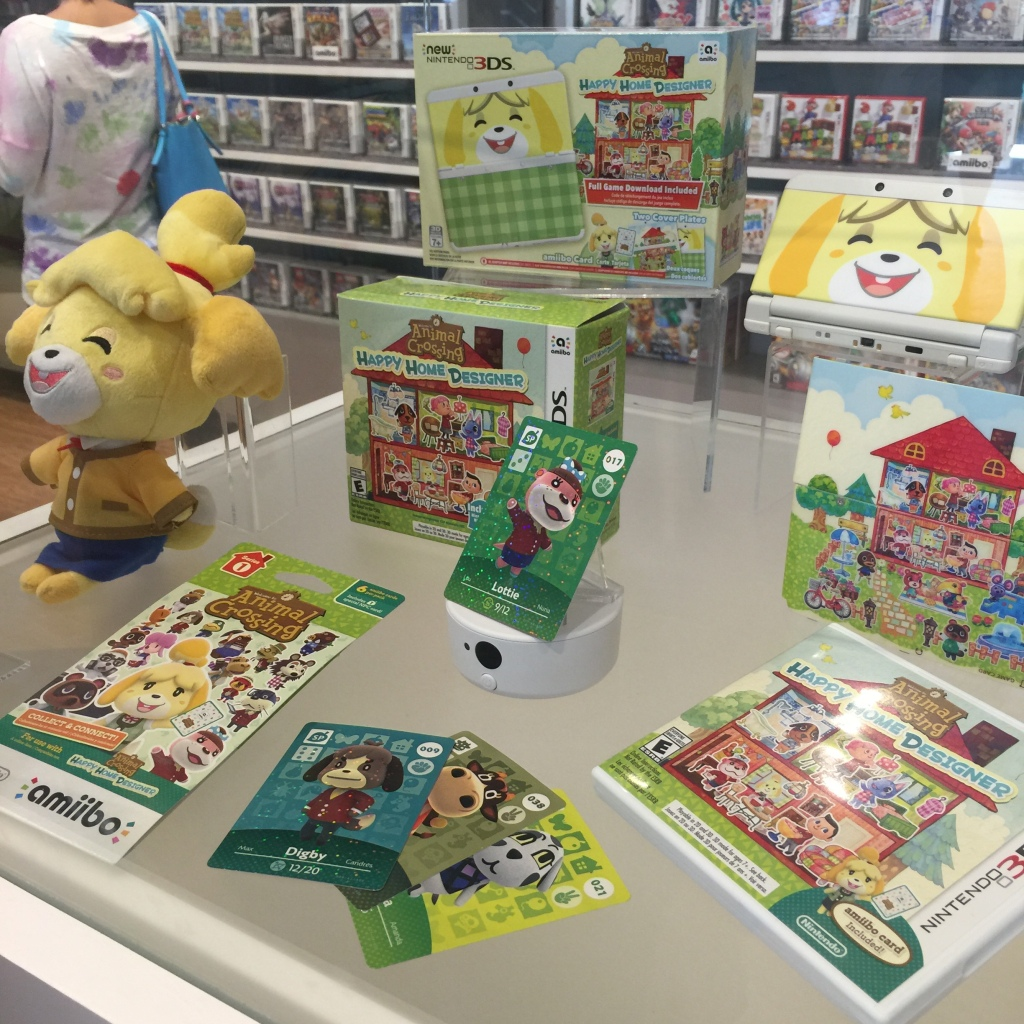 We went into the shop just before the new title Animal Crossing: Happy Home Designer launched, so there was a lot of buzz.