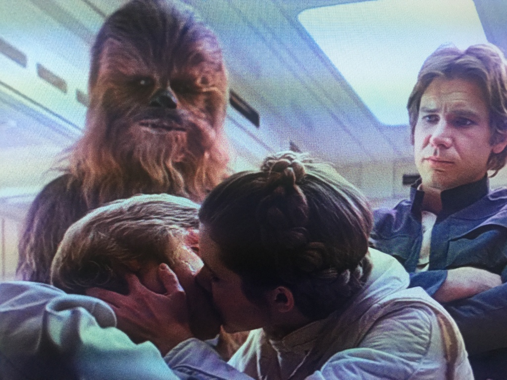 Don't worry Luke, when you get back from the cold you get to kiss your sister.
