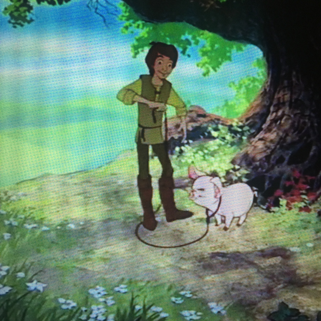 Aw yes, the age old tale of a man and his magic nosed pig.